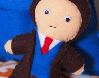 Doctor Who Inspired Felt Figure - Your choice of Doctor or Companion made to order