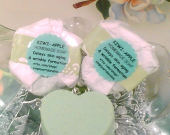 Kiwi and Apple Face and Body Soap - Magic of Two - 35.99 / 12 Pcs