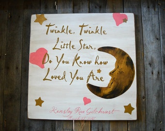 Twinkle Twinkle little star do you know how loved you are with personalized name