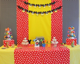 Mickey Mouse club house happy birthday banner