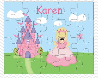 Princess Personalized Puzzle, Personalized Princess Puzzle, Personalized Kids Puzzle