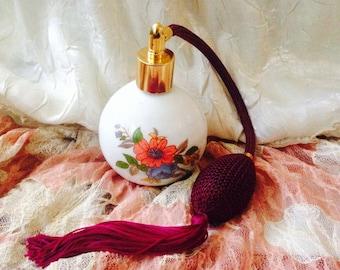 Flower Atomiser perfume bottle, Perfume bottles, Victotian style atomiser