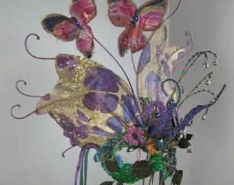 Purple My Secret Garden Masquerade Mask