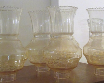 Vintage Glass Lamp Shades,Deco Style Shades,Chandelier Glass, Opal Glass Lamp Shade, Vintage Pressed Glass Shade.