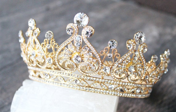GRACE MANCHESTER Gold Full Bridal Crown