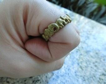 Brass Elephant ring