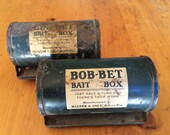 Set of 2 vintage Bob-Bet Bait Boxes - Father's Day Gift, Dad