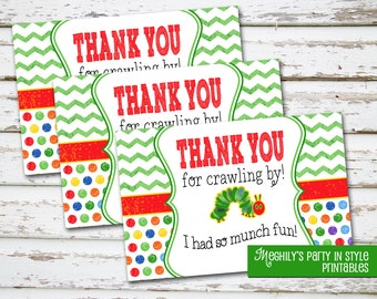 INSTANT DOWNLOAD - Hungry Caterpillar -  Thank You Notes
