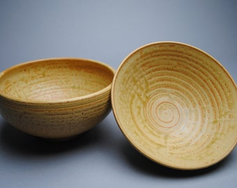 Clay Bowl Pasta Serving Stoneware Taffy Set  B36