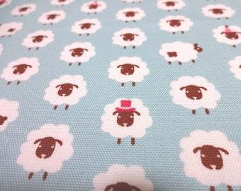 Japanese Fabric KOKKA Sheep SaxeBlue Fat Quarter