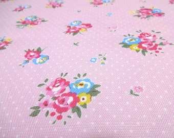 Japanese Fabric LECIEN Flawer Sugar maison Small Pink Fat Quarter