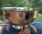 Vintage Reed & Barton 105 Paul Revere Silver Plated Bowl 9 Inch