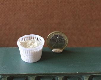 Dollhouse miniature Ricotta (italian cheese)