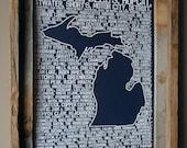 Beers of Michigan Word Map (Dark Blue)