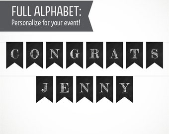Printable Alphabet Chalkboard Banner
