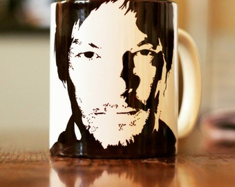 Norman Reedus, Daryl Dixon, TWD, The Walking Dead, Walking dead Gift, Walking dead Mug, Blade 2, Walker Stalker Con, Hand Crafted Cup