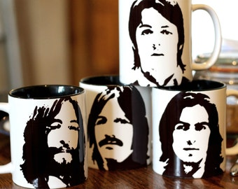 The Beatles, John Lennon, Paul McCartny, Ringo Star, George Harrison cup set