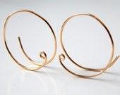 Gold Hoop Earrings Sterling Silver Hoops Earrings Rose Gold Hoops Silver Hoops 14k Gold Small Open Hoops Hoop Earrings Gift Ideas