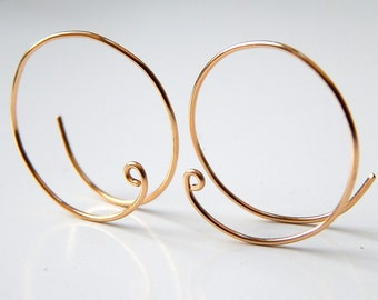Gold Hoop Earrings, Sterling Silver Hoops, Earrings, Rose Gold Hoops, Silver Hoops, 14k Gold Small Open Hoops, Hoop Earrings, Gift Ideas