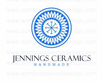 OOAK Premade Logo Design - Indigo Mandala - Perfect for a ceramic artist or a jewelry designer