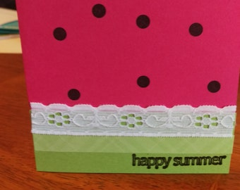 Happy Summer Greeting Card