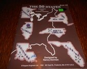 The 50 States - Plastic Canvas Magnets
