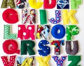 MAGNETIC or PLUSH Superhero Plush Fabric Alphabet Letters for Learning - Made To Order
