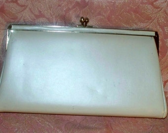 1950s Cream Clutch - Purse  -  Vintage - Party Bag - Ande