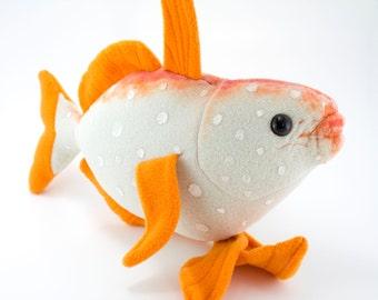 Items similar to kawaii fish stuffed animal red and white for Koi fish plush