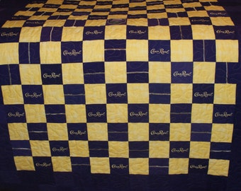 Made to order Crown Royal Quilt (You pick the size and pattern) Best Man Father of the Bride Anniversary Birthday Gift Christmas in July CIJ