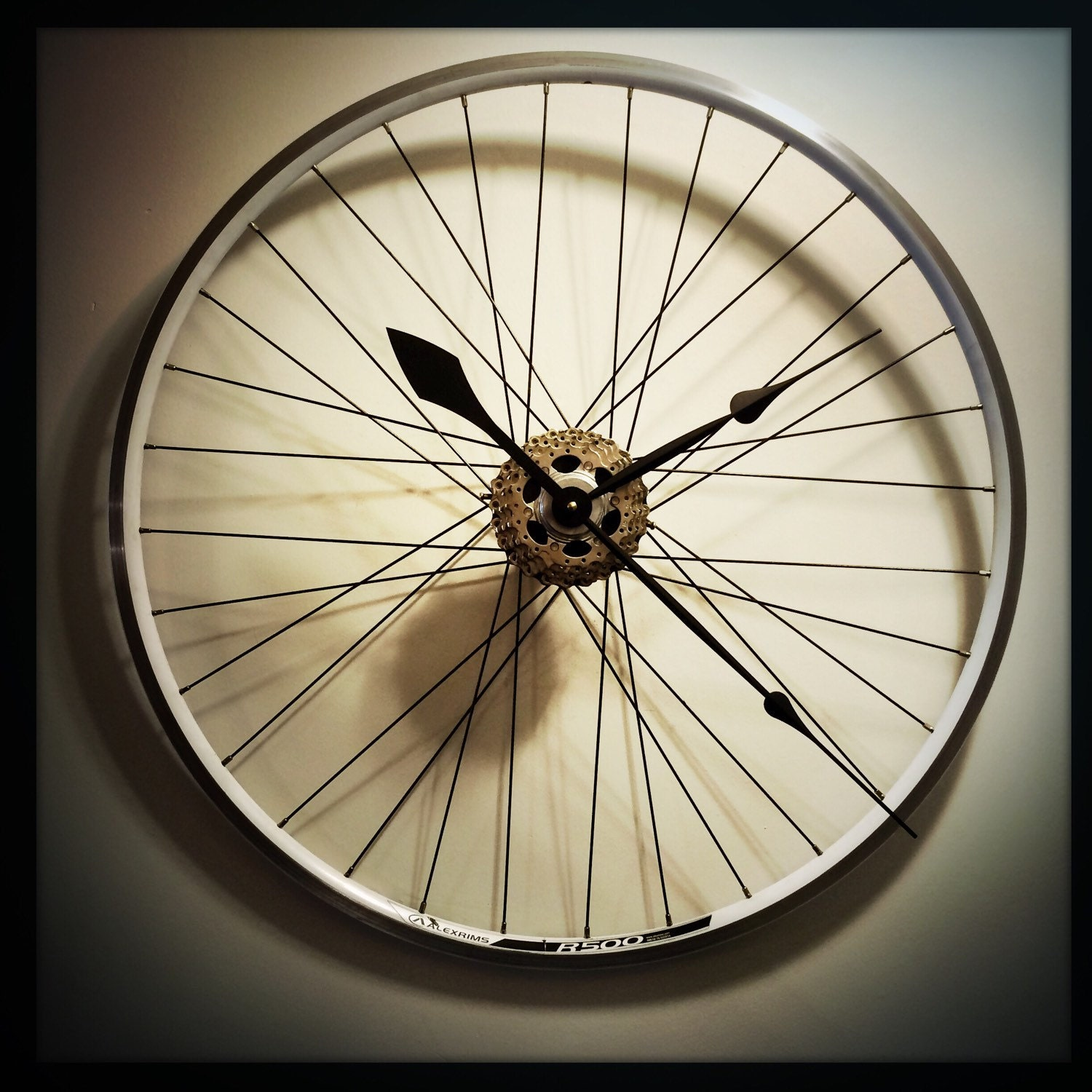 Bike Wheel Clock Cyclist Gift For Men Large Wall Clock