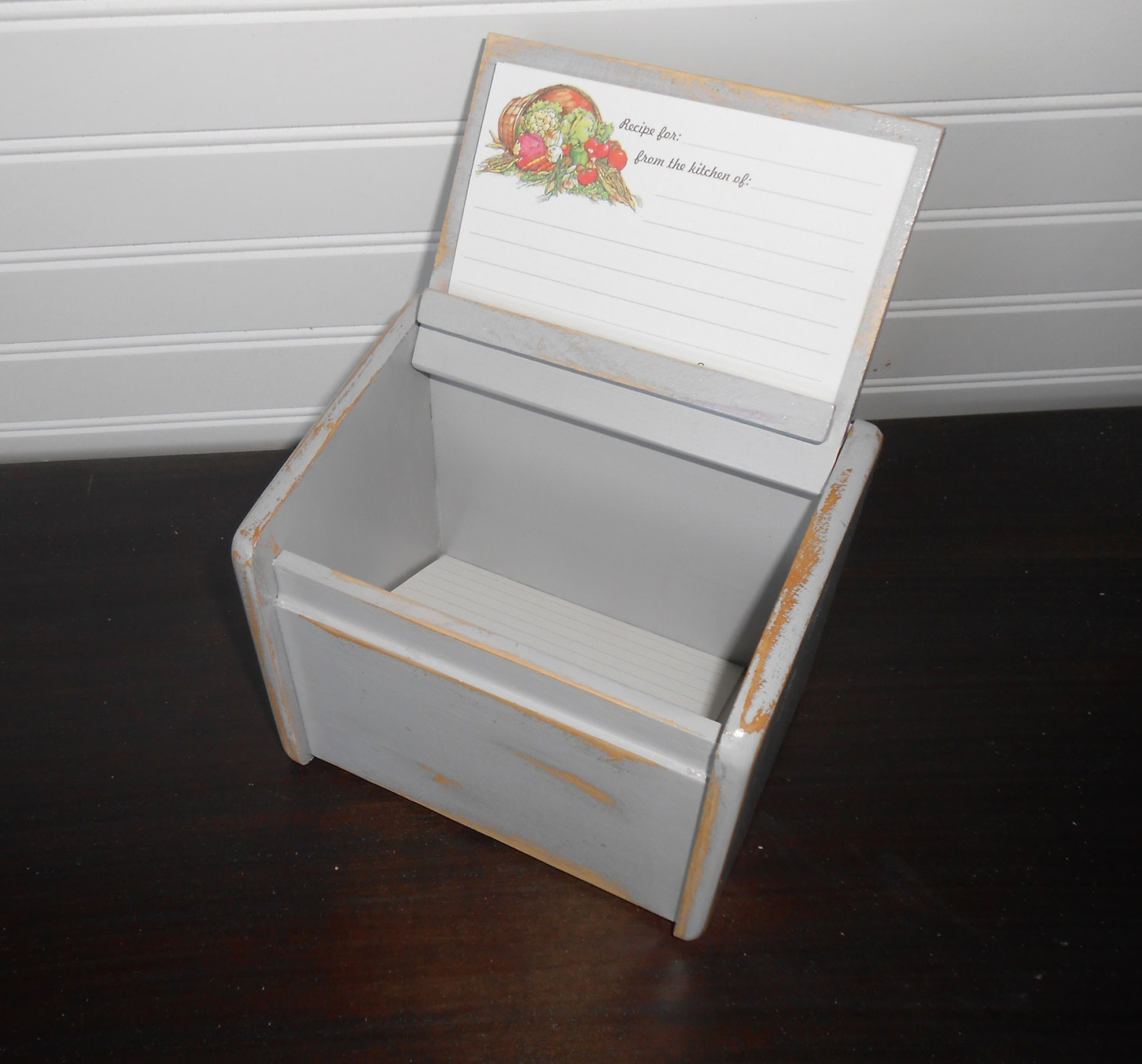 Recipes Boxes Cards Box And 10 Recipe Cards