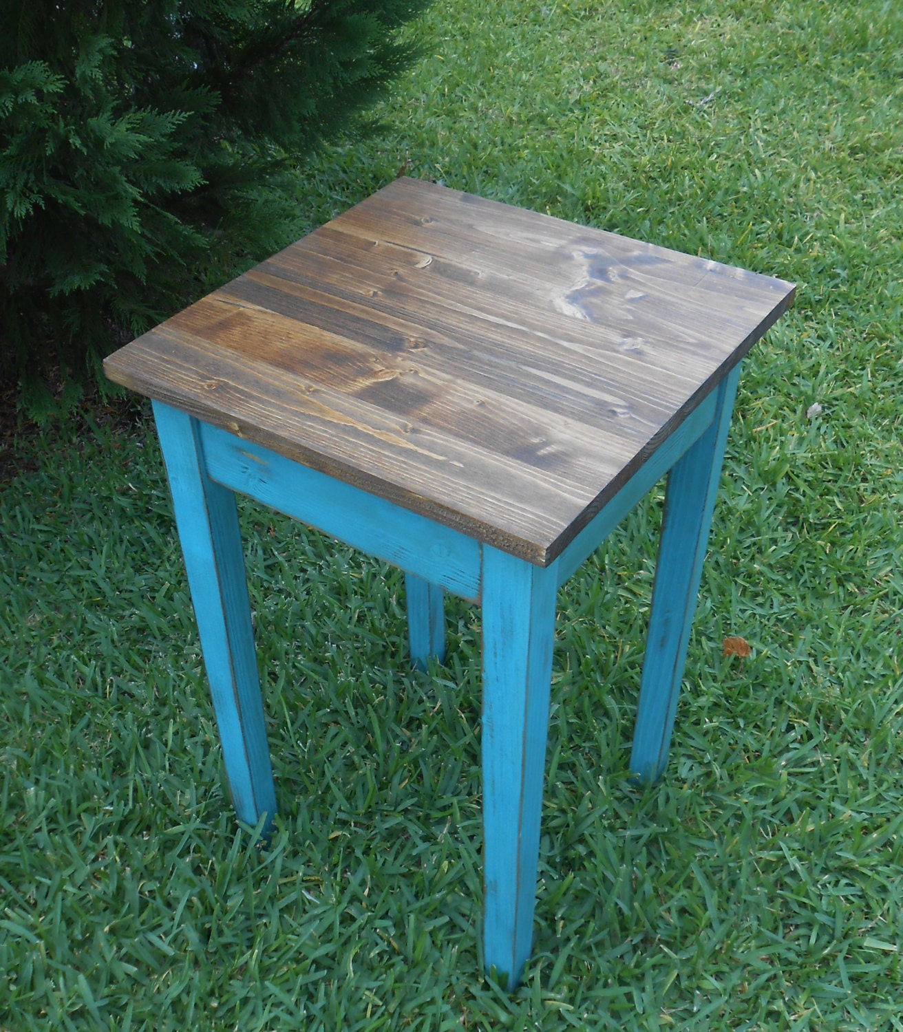 handmade end tables handmade aqua end table wood side table inspired end 3303