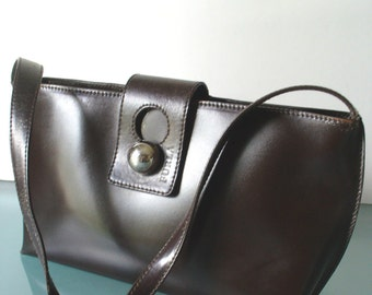 Furla Chocolate Handbag Made in Italy