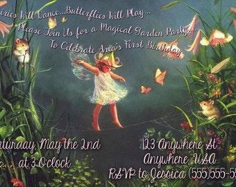 Custom Fairy Party Invite - Digital File