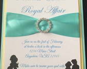 Jasmine Rhinestone Buckle Invitation - Aladdin Birthday