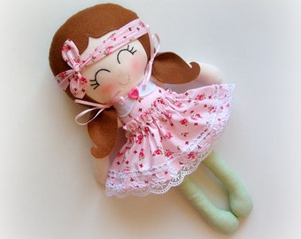 Belle - Top Knot Fabric Doll Collection :)