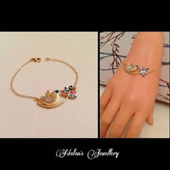 18th Birthday Cz T Bar Sterling Silver Heart Bracelet Can: 50% SaleGold Bird Charm BraceletGold By NalansJewellery On