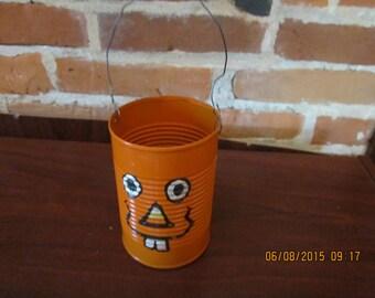 Jack O' Lantern Halloween Can