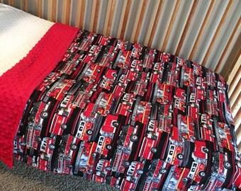 Fitetruck toddler minky blanket