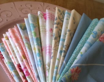 Shabby Chic Cloth Cocktail Napkins, 10 inch, Set of 6, by CHOW with ME
