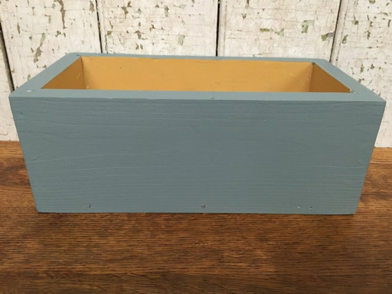 Herb Planter Box - Farmhouse Style Decor - Wooden Storage Box - Rectangular Planter - Succulent Planter - Wood Centerpiece