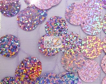 "Big Dot Sequin Hologram Mesh Fabric - VICTORIAN LILAC - 52/54"" Wide By The Yard Craft Costumes Decorations"