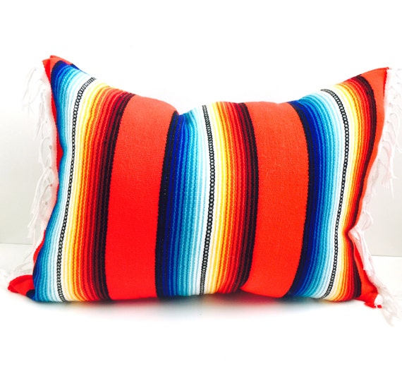 Mexican Blanket Pillow / Home Decor / Gift / Holiday Pillow