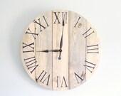 "27.5"" Rustic Light Wood Clock - All Barn Wood Clocks 10% OFF!"