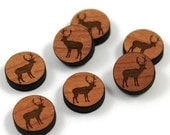 Laser Cut Supplies- 8 Pieces.Elk Charms - Laser Cut Wood Elk -Earring Supplies- Little Laser Lab Sustainable Wood Products