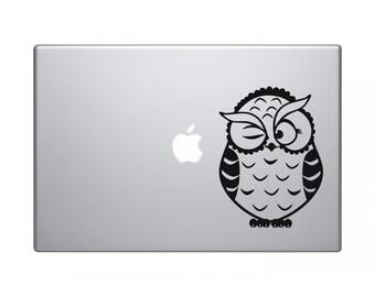 Macbook Decal Owl - Macbook Sticker - Macbook Pro Stickers - Macbook Air Stickers - Laptop Decal - Laptop Stickers - Stickers Macbook
