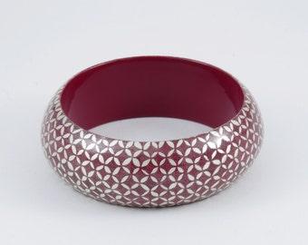 Bracelet KIMONO  Purple Engraved