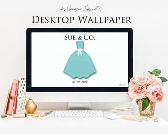 Aqua Blue Dress Desktop Wallpaper