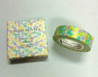 KIKUSUI story tape Masking Tape /15mm x 15M   / rhythm of life
